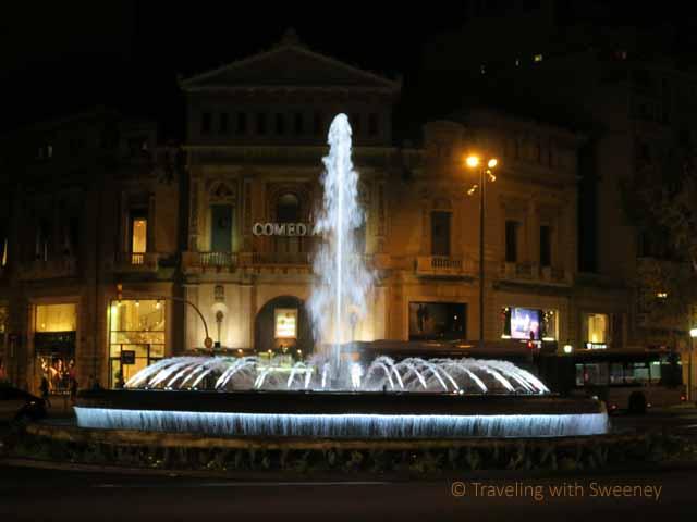 """""""Fountain on Gran Via and Passeig de Gracia"""""""