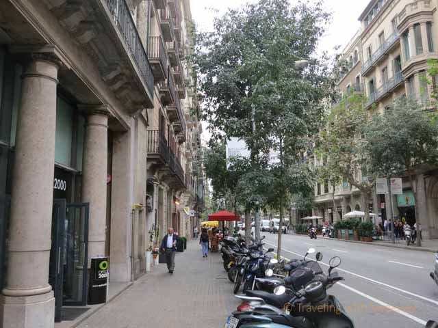 """Street in Eixample Barcelona"""