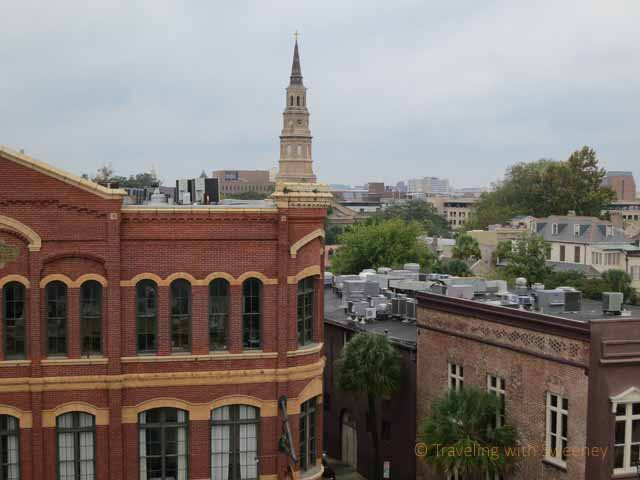 """View from rooftop of downtown Charleston"""