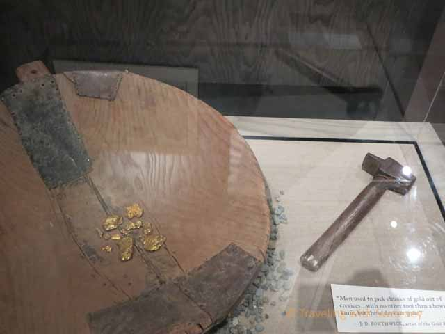 """""""Gold nuggets and tools from the California Gold Rush"""""""