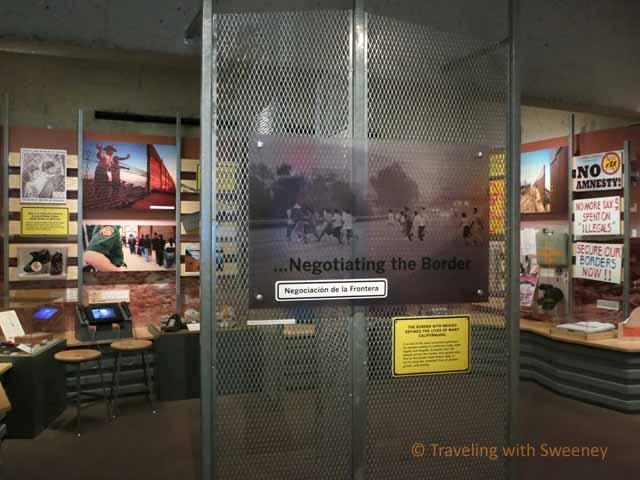 """Negotiating the Border - Immigration Exhibit at Oakland Museum of California"""