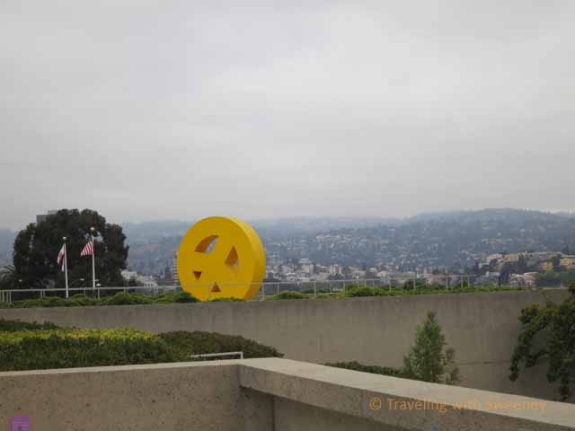 """Peace Symbol Sculpture in OMCA Gardens"""