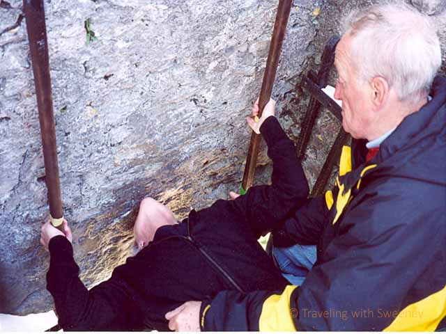 """Kissing the Blarney Stone"""