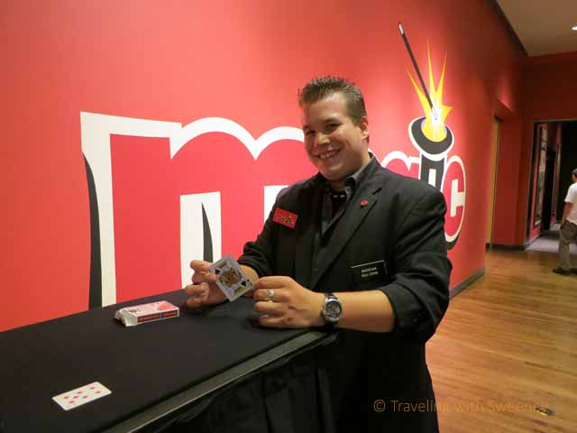 """Learning a Card Trick from Magician at Chicago History Museum """