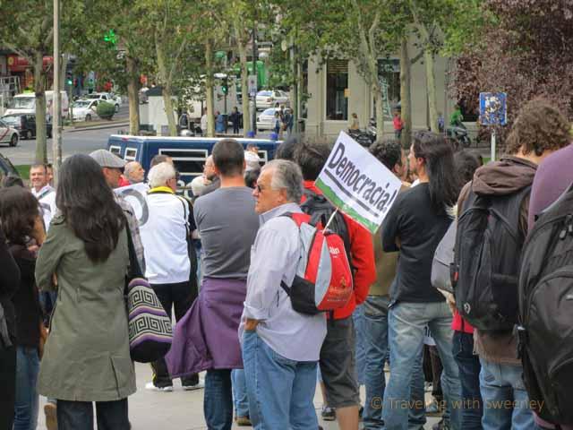 """Anti-austerity Protestors in Madrid"""