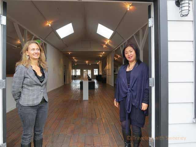 """Danielle Fox of Oakland Art Murmur and Lonnie Lee of Vessel Gallery in Oakland"""
