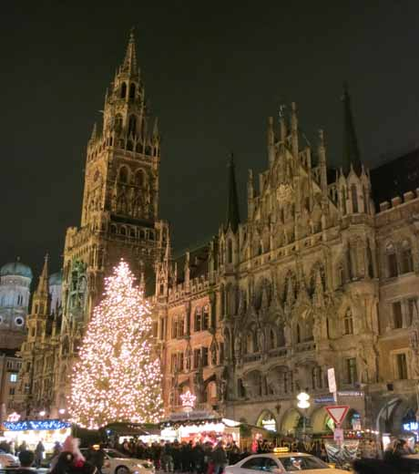 """Weihnachtsmarkt at Marienplatz, Munich, Germany"""