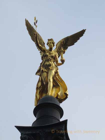 """Angel of Peace Statue on Friedensengel Monument"""