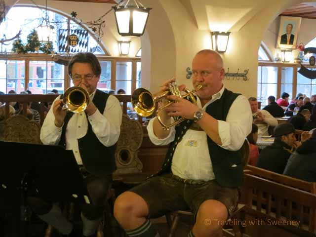 """Faces and Places: Band at Hofbräuhaus in Munich"""