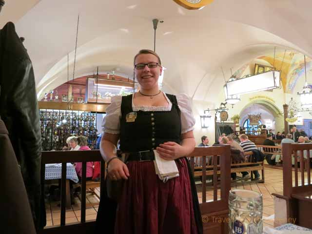 """Faces and Places: Friendly Server at Hofbräuhaus in Munich"""