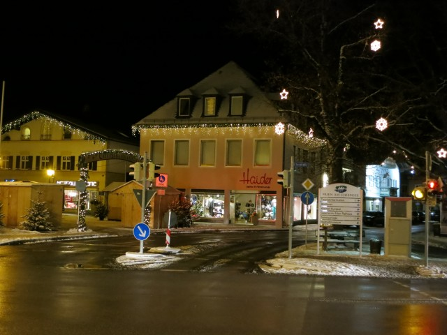 """Street in Prien"" -- The quiet of Prien am Chiemsee was little broken by traffic."