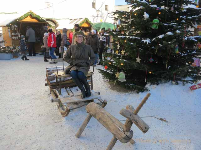 """European Christmas Markets: Hohensalzburg Fortress atop Festungsburg Mountain in Salzburg, Austria"""