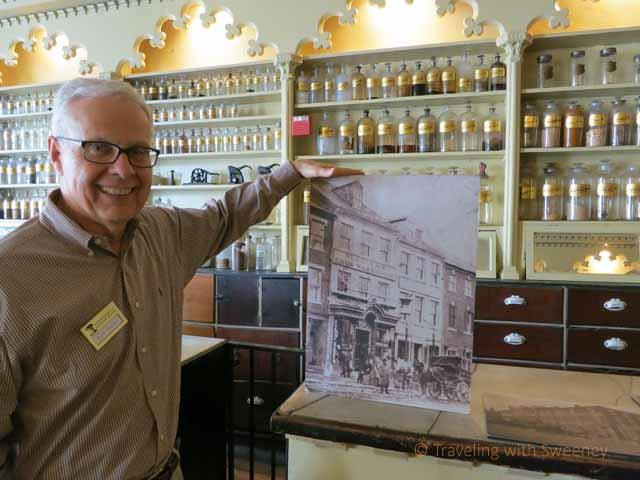 """Ken Miller at Apothecary Museum in Alexandria, Virginia"""