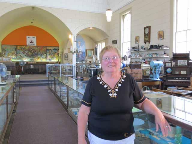 """""""Marian, a Volunteer Guide at the Peshtigo Fire Museum in Peshtigo, Wisconsin"""""""