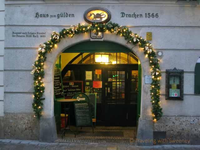 """""""Romantic Lunch at Gösser Bierklinik on Steindlgasse in Vienna"""""""