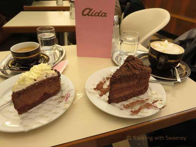 """Romance in Vienna at Aida Café-Konditorei"