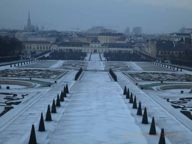 """View of Vienna from Belvedere Palace"""
