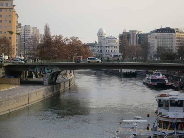 """ A romantic walk along the Danube Canal (Donaukanal) in Vievva, Austria"""