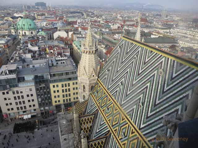 """Romantic Vienna from the Tower of St. Stephen Cathedral (Stephansdom)"""