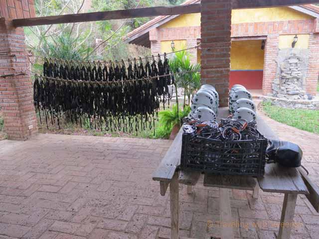 """""""Zip Lining Gear at Huana Coa Canopy Adventure"""""""