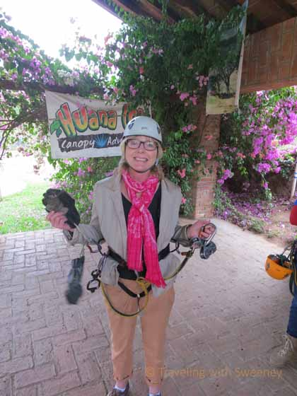 """Sweeney in Zip Lining Gear at Huana Coa Canopy Adventure, Mazatlan"""