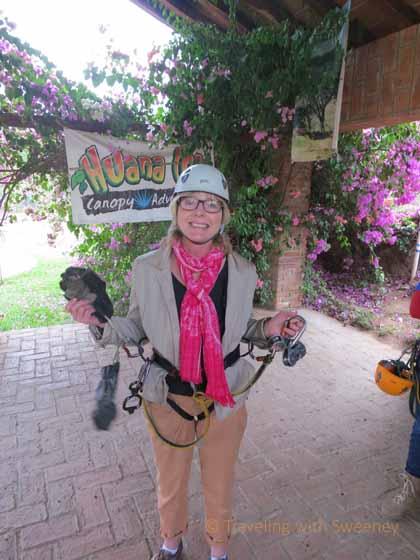 """Sweeney in Zip Lining Gear at Huana Coa Canopy Adventure, Mazatlan"""