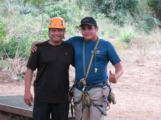 """Huana Coa Zip Lining Guides, Silverio and Jimmy"""