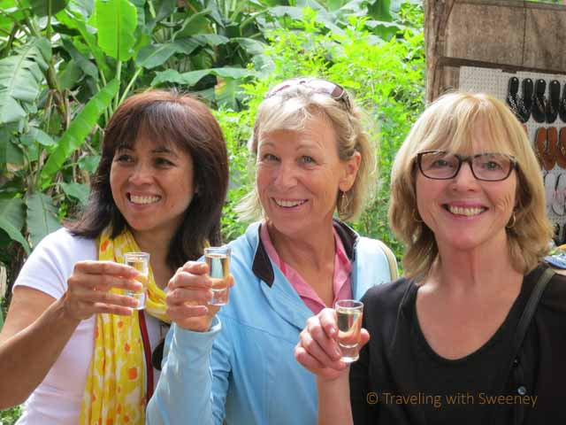 """Sampling the tequila at Los Osuna in Sinaloa, Mexico"""