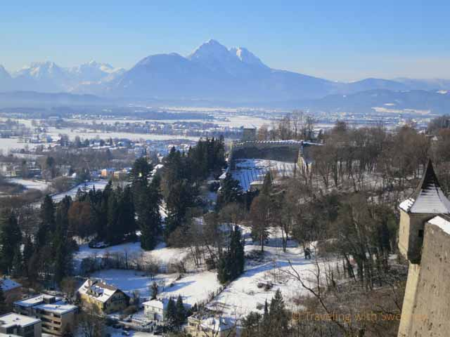 """The hills are alive with the sound of music! View of the Alps from Hohensalzburg Fortress"""