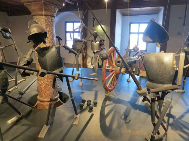 """""""Artistic and instresting armor and weapons exhibit inside Hohensalzburg Fortress"""""""