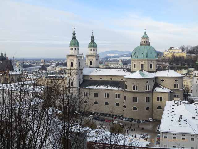 Domes of Salzburg Cathedral""