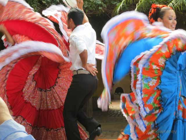 """""""Couples performing traditional Mexican dances at El Meson de los Laureanos in El Quelite, Mexico near Mazatlan"""""""