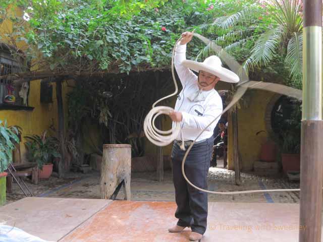 """""""Lasso Performer at  El Meson de los Laureanos in El Quelite, Mexico near Mazatlan"""""""