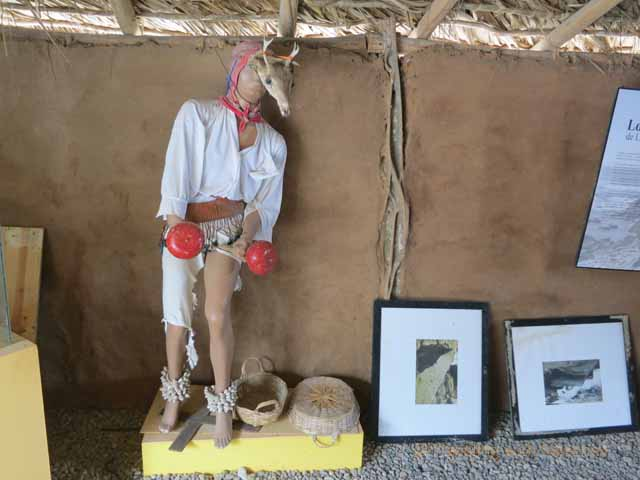 """""""Artifacts and replicas of petroglyps on display at Las Labrades"""""""