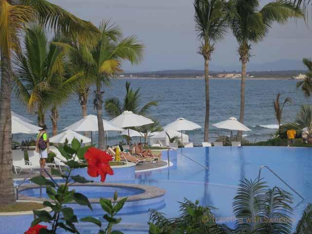 """Lovely pools and palm trees at Pueblo Bonito Emerald Bay in Nuevo Mazatlan"""