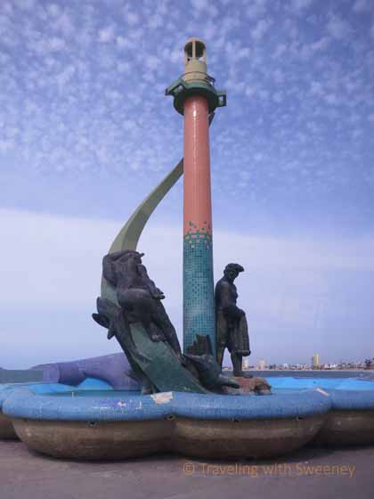 """Fishermans Monument (Monumento al Pescador) on the Malecón promenade in Mazatlan. Mexico"""