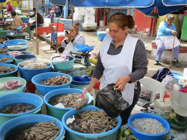 """""""Ladies Preparing and Selling Shrimp at the Shrimp Market in Old Town Mazatlan"""""""