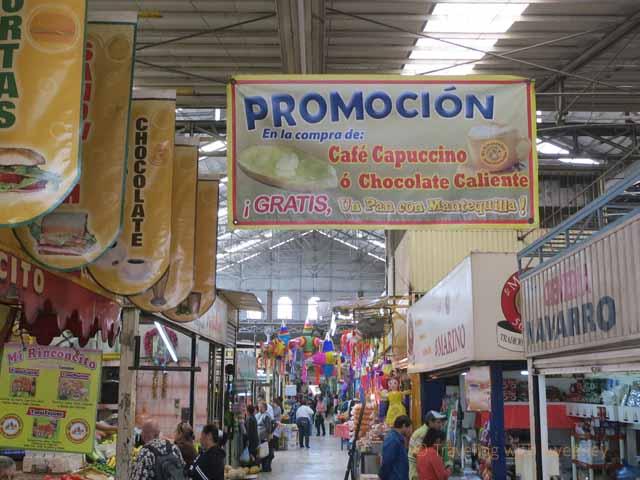 """Interior of the Old Town Market, Mazatlan"""