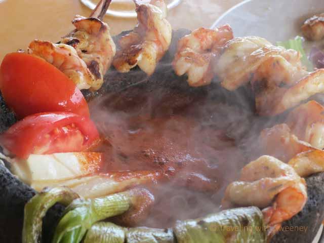 """""""Steaming Hot Shrimp Dish at La Puntilla, Mazatlan"""""""