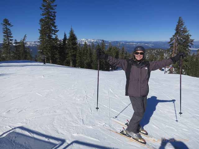 """An awesome day for skiing at North Lake Tahoe, California"""