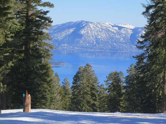 """View of Lake Tahoe from Ski Run at North Lake Tahoe"""