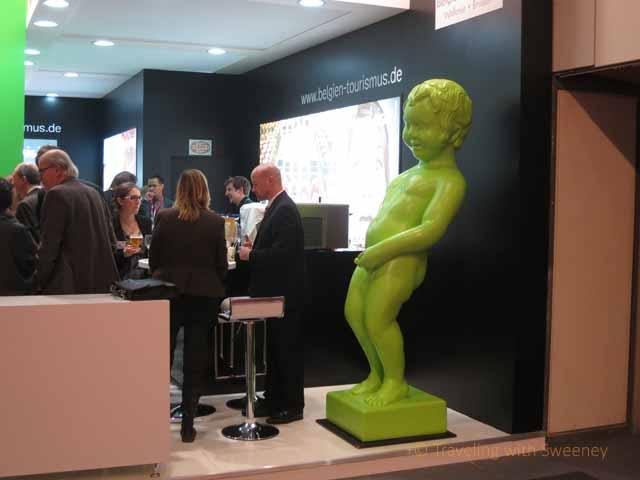 "Funny statue at Belgian exhibit, ITB Berlin"""