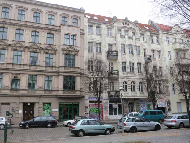 """Beautiful old Kreuzberg architecture marred by air conditioner in window"""