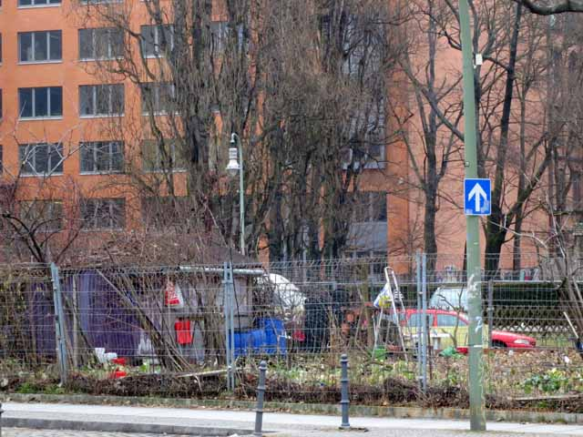 'Squatters took over a portion of land in Kreuzberg after the fall of the Berlin Wall""