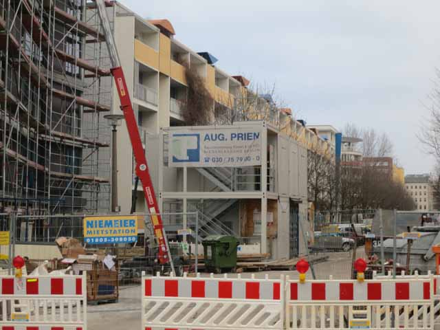 """Ongoing construction and gentrification in Kreuzberg Berlin"""
