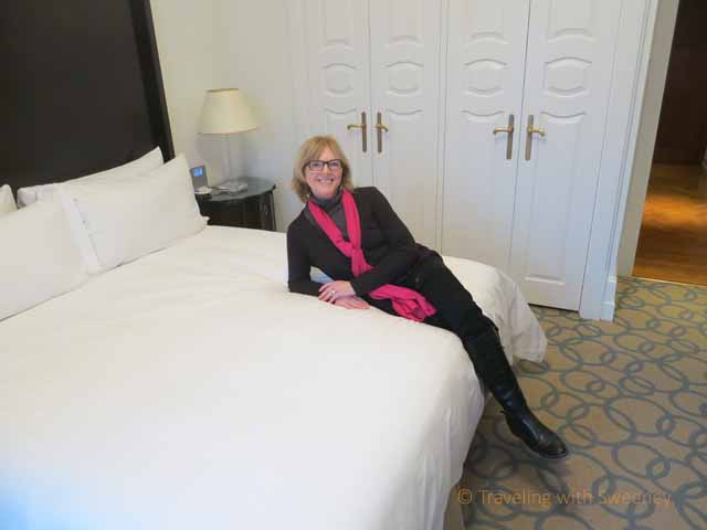 """""""Comfortable king bed at the Four Seasons Budapest luxury hotel"""""""