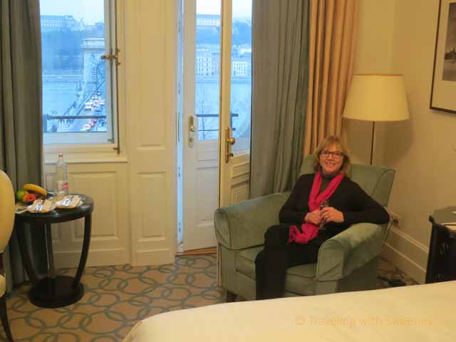 """""""Relishing the comfort of a room with a view at the Four Seasons Gresham Palace, Budapest"""""""
