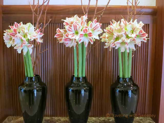 """""""Floral arrangement in lobby of Four Seasons Gresham Palace in Budapest"""""""