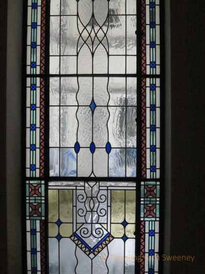 """Art Nouveau stained glass window at Four Seasons Gresham Palace, Budapest"""