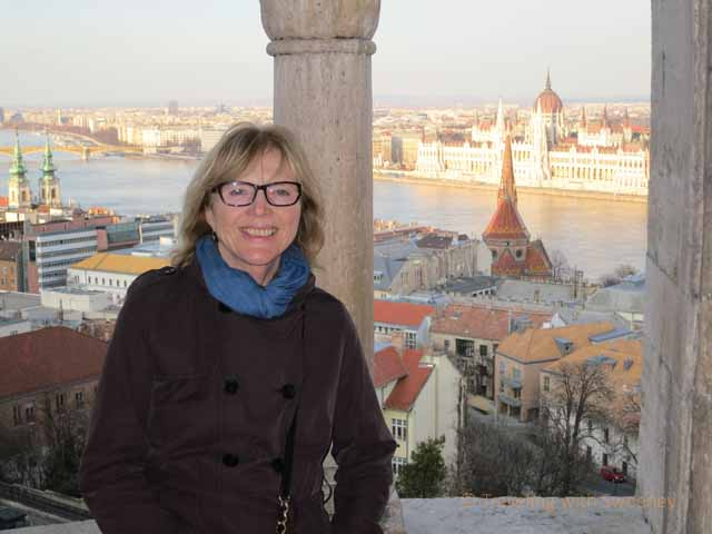 """Atop the Buda Hills at the Fisherman's Bastion in the Castle District of Budapest"""